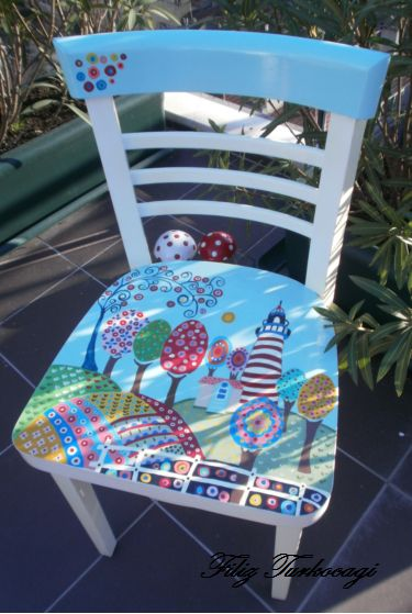 Hand painted chair.