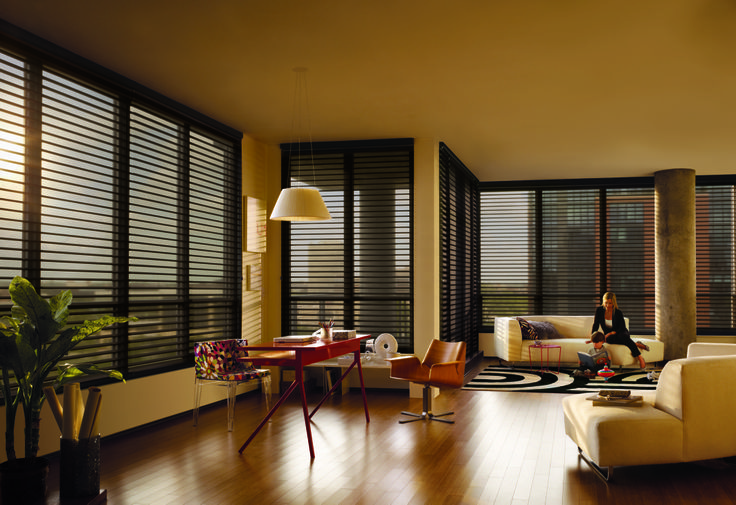 Black blinds can really create impact in the right room