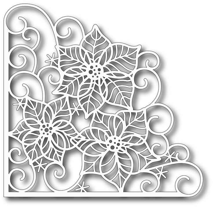 Tutti Designs - Cutting Die - Poinsettia Corner,$12.49