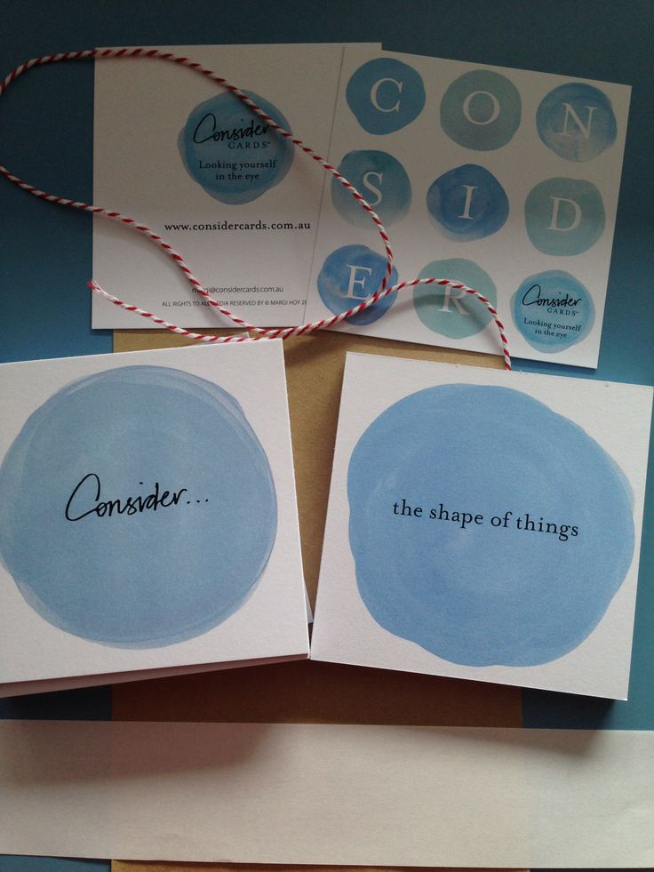 CONSIDER The shape of things.  #ConsiderCards by Margi Hoy