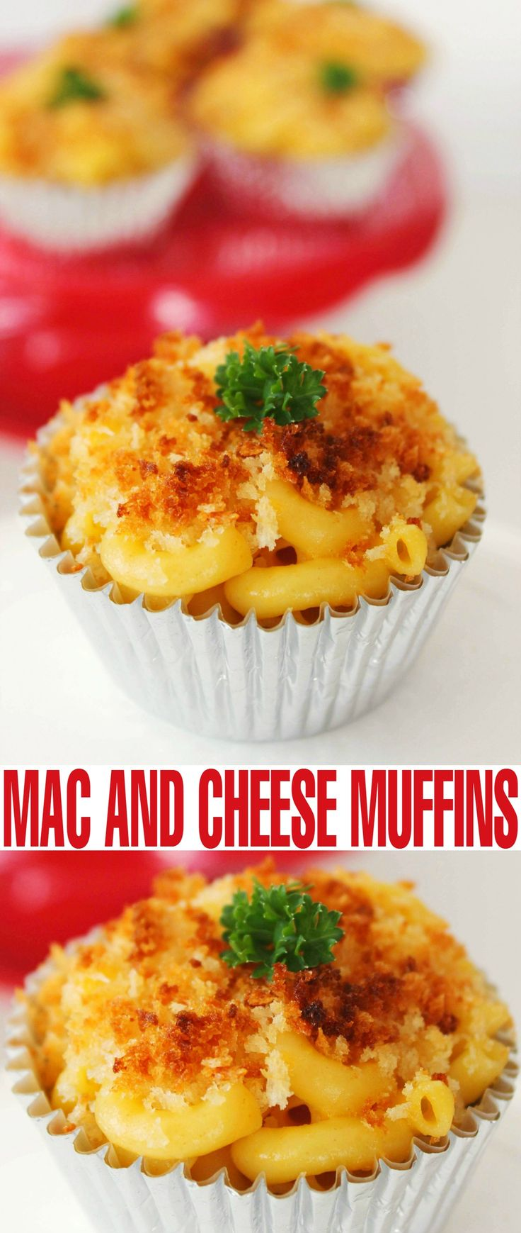 Basically every kid loves Mac & cheese, and these Mac & Cheese muffins are a fun twist on the classic macaroni and cheese recipe to make an even more kid friendly meal.