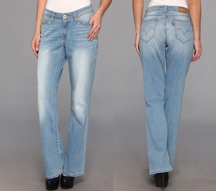 Details about Levi&39s 515 women&39s bootcut jeans light wash cotton