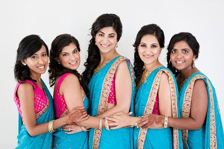 Love these bridesmaids colours #indianwedding #wedding