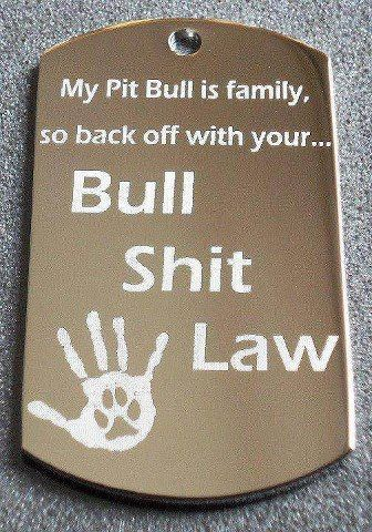 """You will have to kill me to take my pit bull.... and good luck with that cause ammo is to hard to come by for you to get a warning shot!!""  Classy and law-abiding, the pit bull owner is a valued member of society."