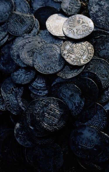 Old coins (Victoria Station)