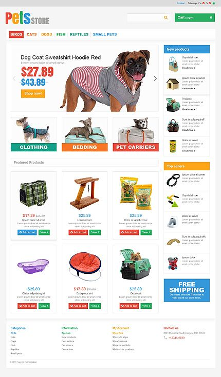50 best Animals & Pets Web Templates images on Pinterest | Coffee ...