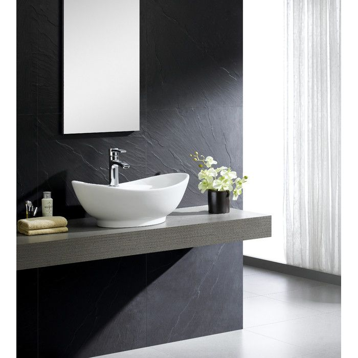 Attractive Youu0027ll Love The Modern Vitreous Large Oval Vessel Sink Vessel Bathroom Sink  With Overflow