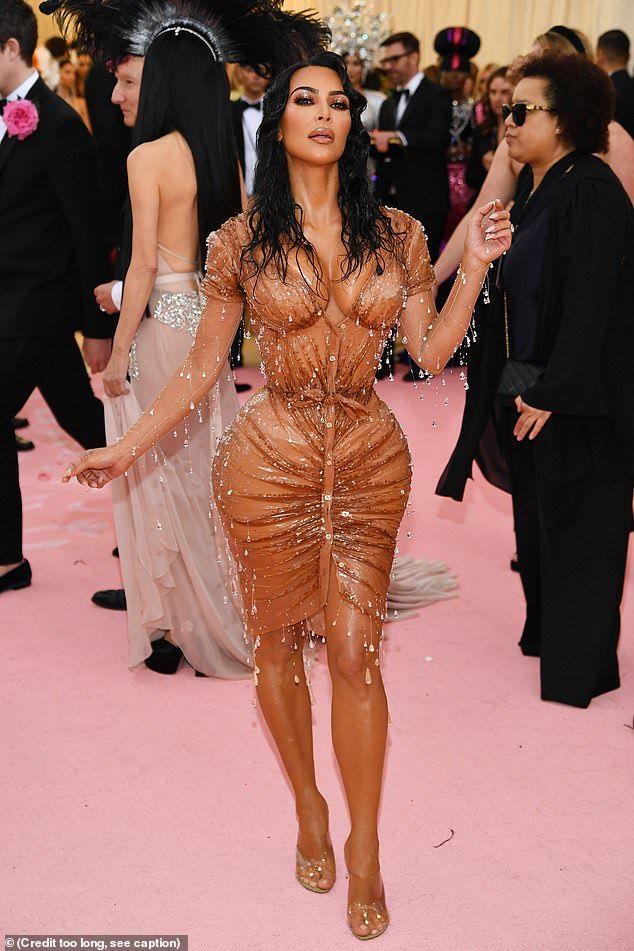 Kim Kardashian Just Wore the Sheerest Naked Dress Weve