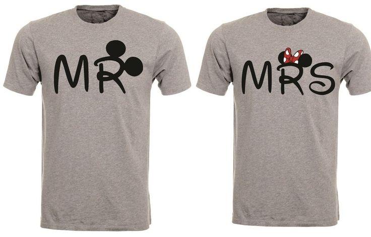 Valentines Mr Mrs Couple Disney Mickey Lovers Cute Fun Tshirt Tee Top AB87   eBay