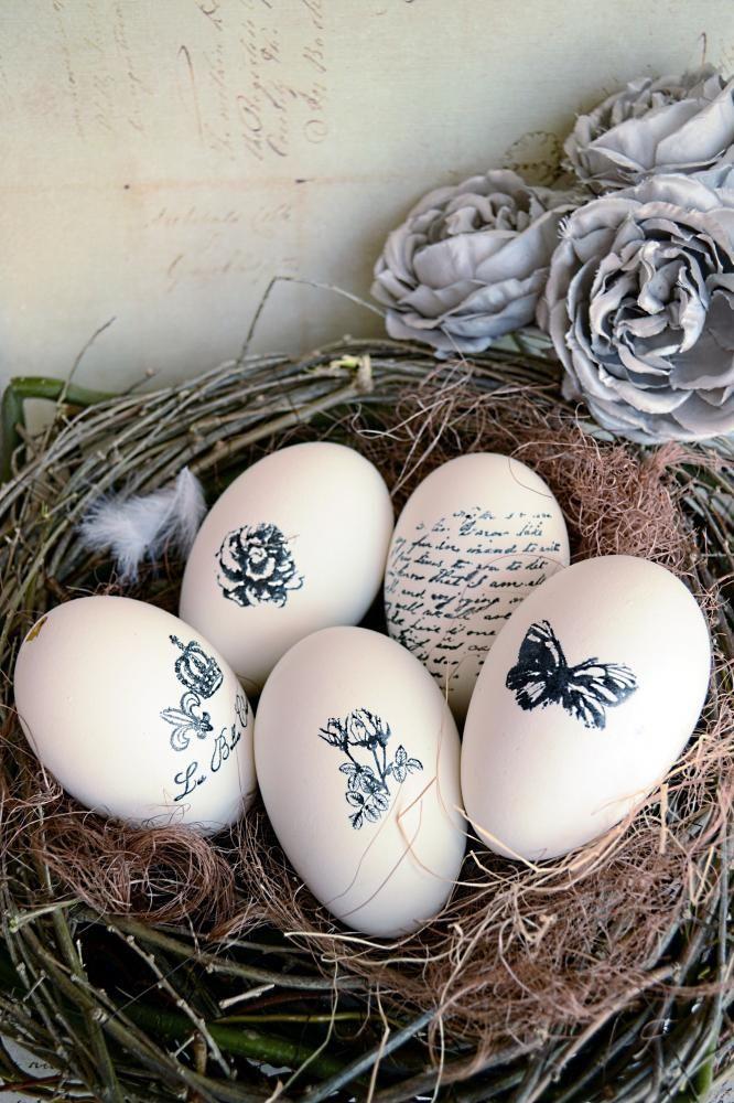 Dekorácie - Shabby maxihniezdo s 5 vajíčkami - 3725334