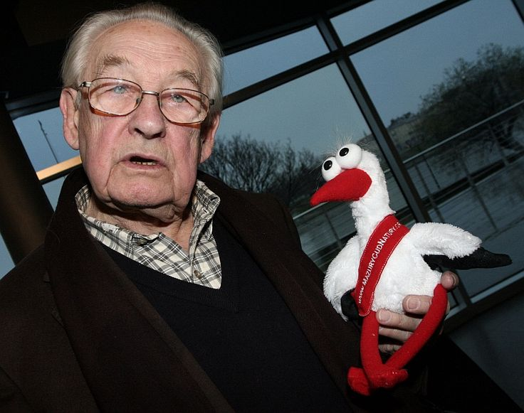 Andrzej Wajda with his toy friend :)