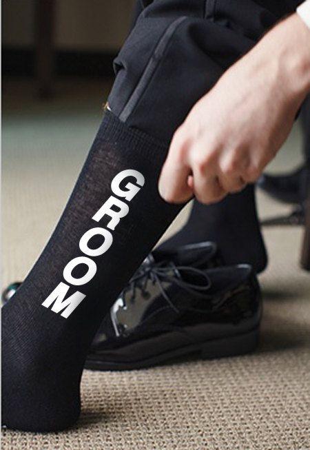 GROOM Wedding Socks by Trunkoflove on Etsy, $13.90
