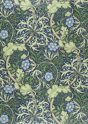 Seaweed wallpaper, by William Morris