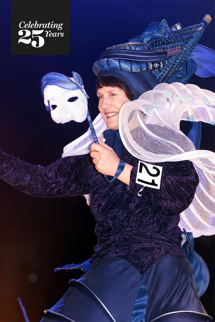 "Back in 2002, the WOW stage was graced by none other than former Prime Minister, Helen Clark! She is pictured here in the garment ""Crest of The Wave"", an exhibition garment created by Susan Holmes for the 2002 Air New Zealand South Pacific section.   Were you there? #Celebrating25Years"