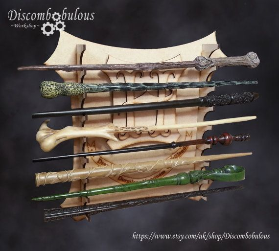 Harry Potter Wall Hanging Wand Stand -  Hogwarts, Magic, Dumbledore,  Hermione, Sirius, Snape, Voldermort, Death Eater, Deathy Hallows