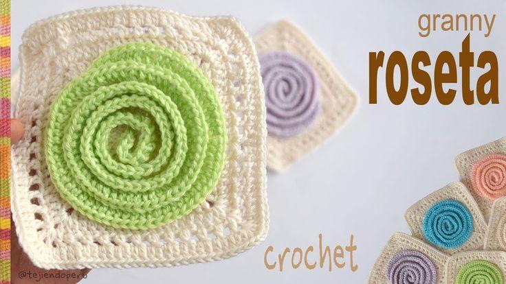 ¡Un tejido rápido y divertido! Pueden tejer la roseta en un color diferente al de la base. La roseta se forma en un tejido espiral. En el video podrán ver có...