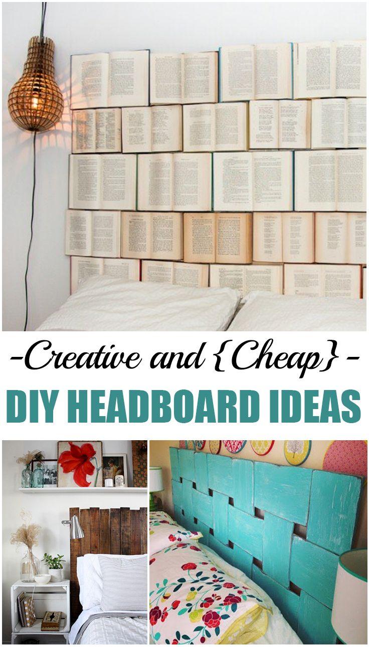 Creative and cheap diy headboard ideas pinterest for Easy diy headboard cheap