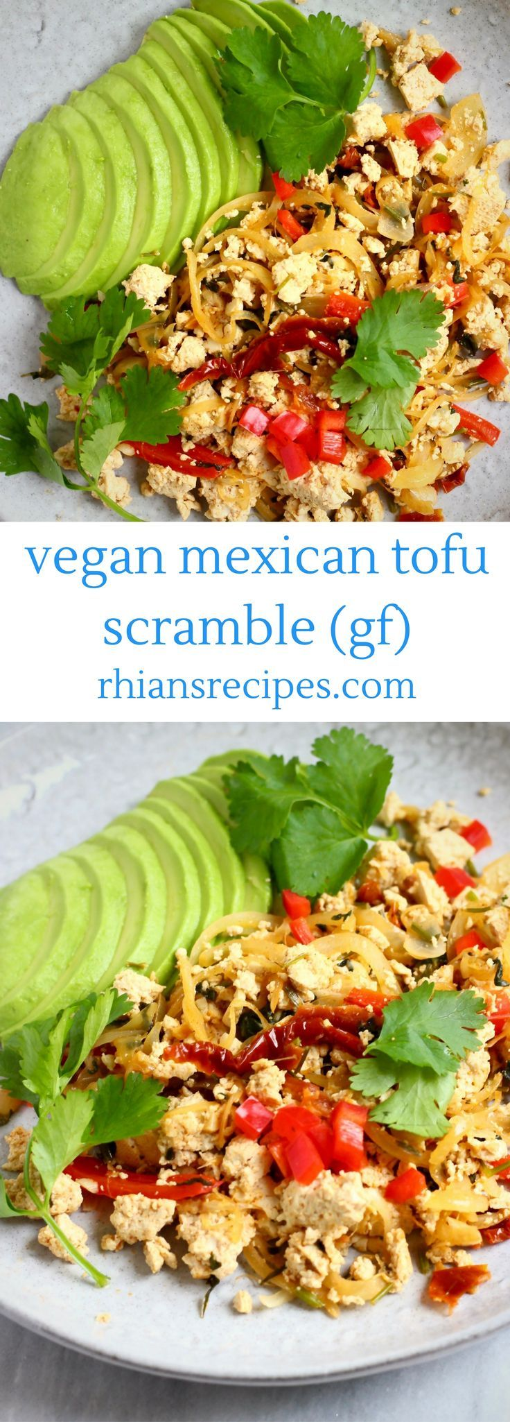 This Vegan Mexican Tofu Scramble is full of flavour, super easy to make and hearty and satisfying! Eat as breakfast or brunch, or use as a filling for burritos, enchiladas or tacos. Gluten-free.