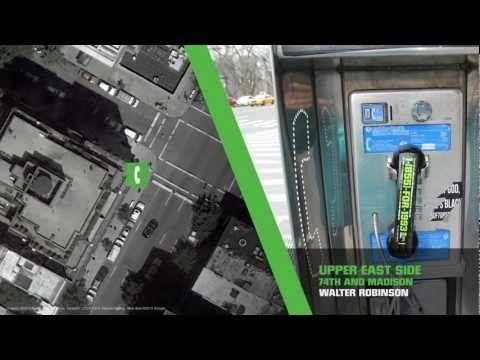 """ニューヨークのNew Museumでの『NYC 1993』という展覧会のプロモーション、""""Recalling 1993""""。ニューヨーク市じゅうの5千台の公衆電話を使い、ダイヤルすると1993年当時の話題が聞こえてくるという、携帯電話の普及でほとんど街の遺物と化した公衆電話をうまく利用した体験型プロモーション。"""