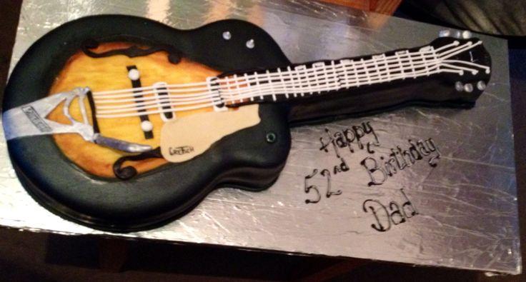Gretsch guitar birthday cake