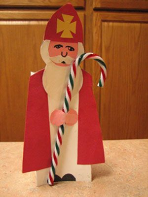 Candy Cane Holder for St. Nicholas Day