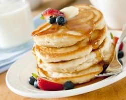 Recipe for pancakes without eggs.