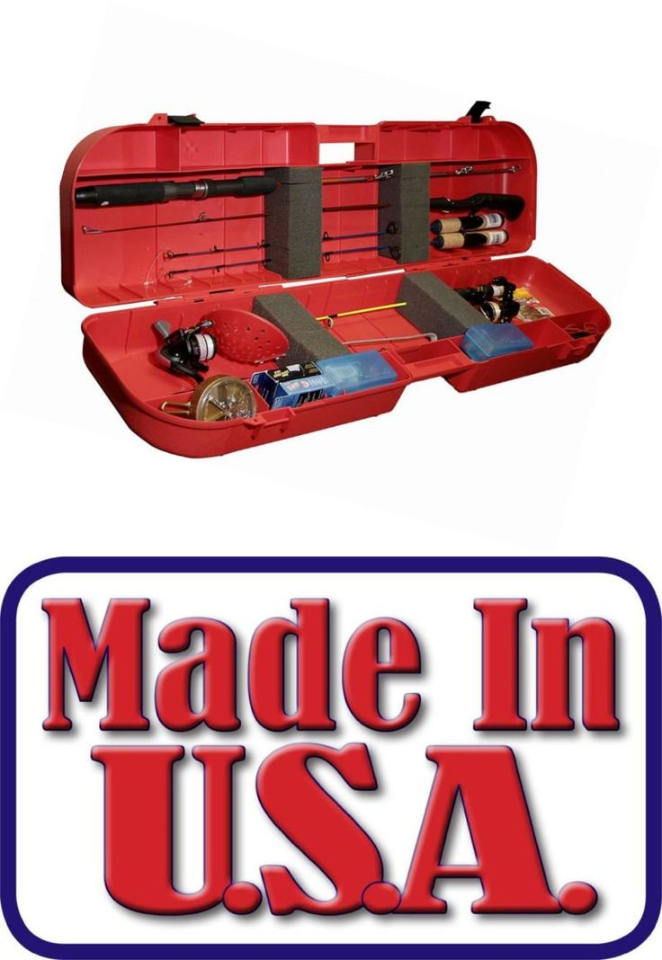Ice Fishing Rods 179947: Mtm Ice Fishing Rod Box Case (Red) New Free Shipping BUY IT NOW ONLY: $44.74