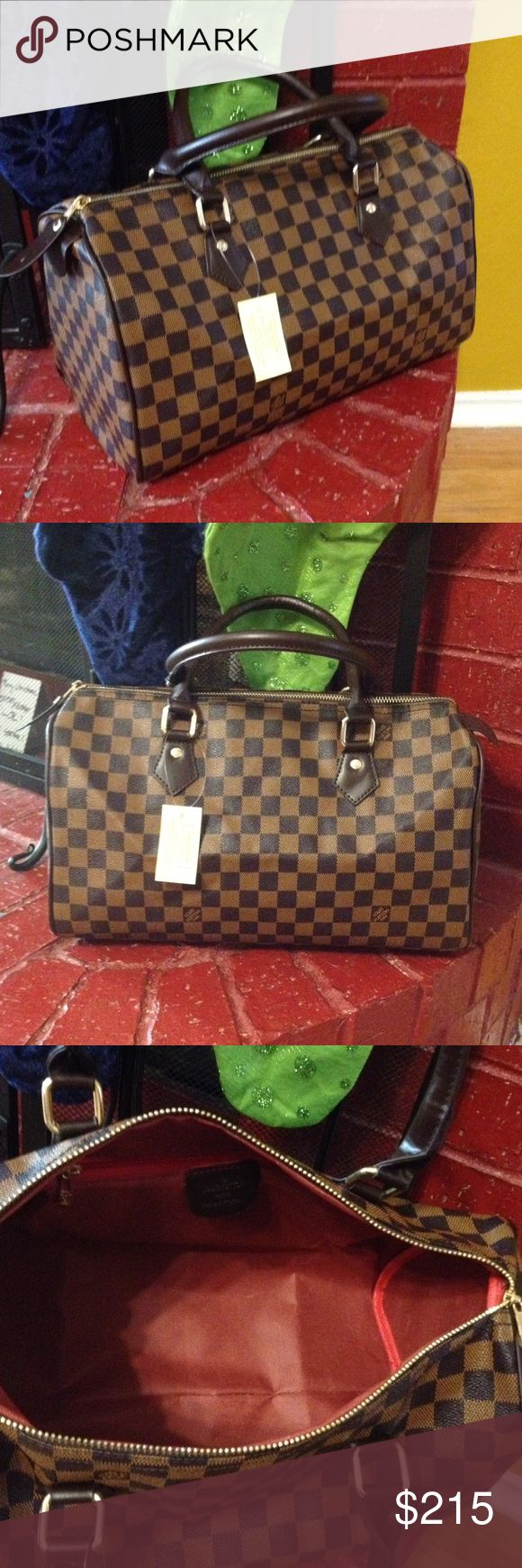 Speedy35 satchel handbag Size is large and it's so beautiful bag. Price reflect auth. Send me offer!! Will ship it today a well. Don't miss it. Cute bag Louis Vuitton Bags Satchels