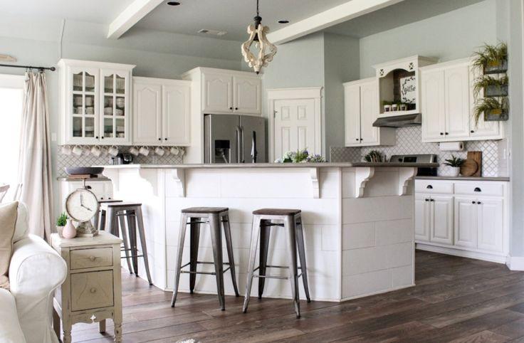 Best 20 sherwin williams alabaster white ideas on for Alabaster white kitchen cabinets