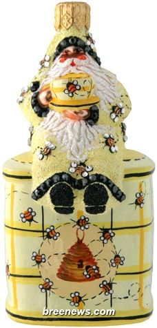 Tea Time Santa (Bees) Patricia Breen Designs (Hive, Skep, Decorations, Theme)