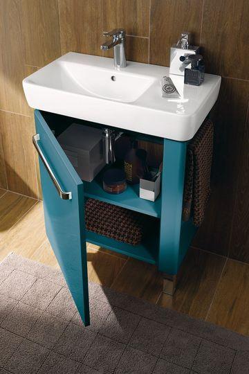 17 best images about salle d 39 eau on pinterest ceramics - Meuble de rangement peu profond ...