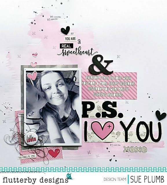 P.S. I Love You   Flutterby Designs   Sue Plumb