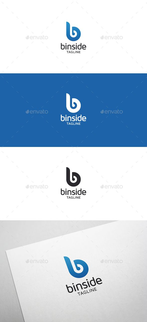 Binside B Letter Logo — Vector EPS #simple #logo branding • Download here → https://graphicriver.net/item/binside-b-letter-logo/4715308?ref=pxcr