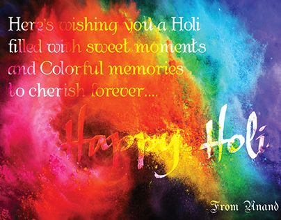 "Check out new work on my @Behance portfolio: ""Holi Wishes to Friends & Family"" http://be.net/gallery/38580273/Holi-Wishes-to-Friends-Family"