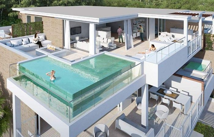 NEW CONTEMPORARY APARTMENTS CALA DE MIJAS  Exclusive new development located in the highly sought after area of Cala de Mijas a short walk from the town center and the beach. Jardinana is a unique development of only 65 high end apartments and penthouses all with stunning sea views. These stunning contemporary homes will be built to the highest specification and feature large terraces, floor to ceiling windows