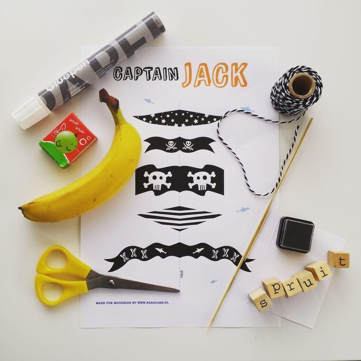 Traktatie gezond banaan piratenboot piraat meeneem
