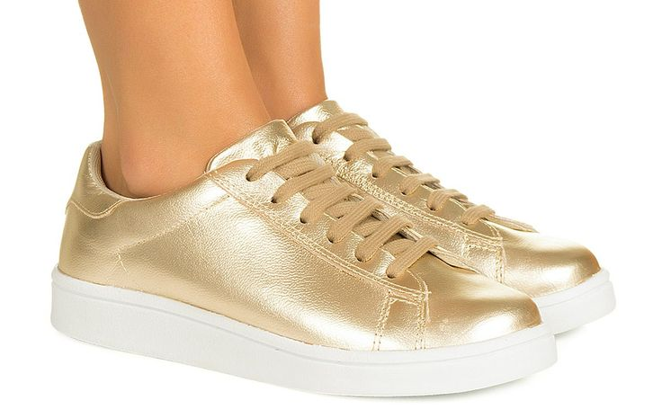 Tênis dourado Taquilla - Taquilla - Loja online de sapatos femininos