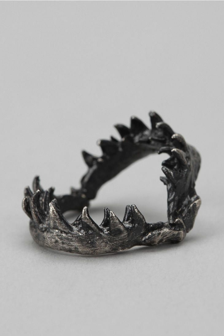 OBEY Shark Jaw Ring Online Only. This made me think of my friend Oriana, she likes rings.