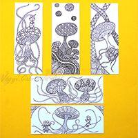 Gombák színező - színezés után könyvjelzőként tudod használni - megvásárolható #színező #rajz #könyvjelző