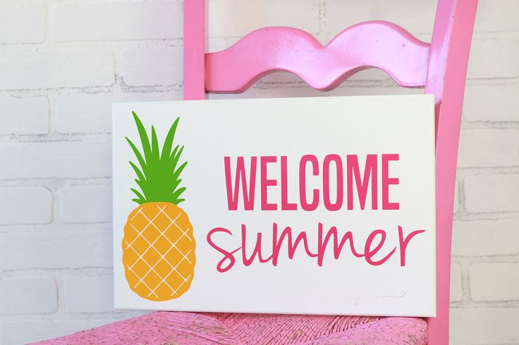Welcome summer - Summer decor - Summer sign - Front porch sign - Pineapple sign by OutTheDoorDecor on Etsy https://www.etsy.com/listing/522284309/welcome-summer-summer-decor-summer-sign
