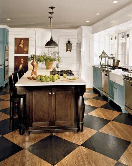 Color Under Your Feet: A Gallery of Painted Kitchen Floors