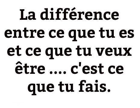 La différence entre ce que tu es et ce que tu veux être ... c'est ...