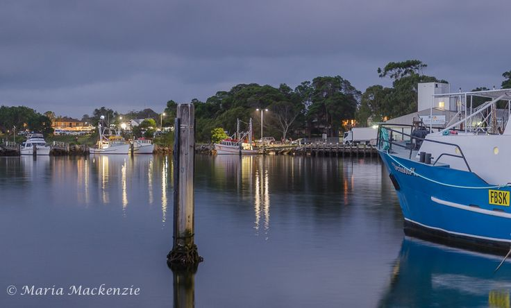 Trawlers docked for the night to overlook Iluka Co-Op in one of the bay areas.