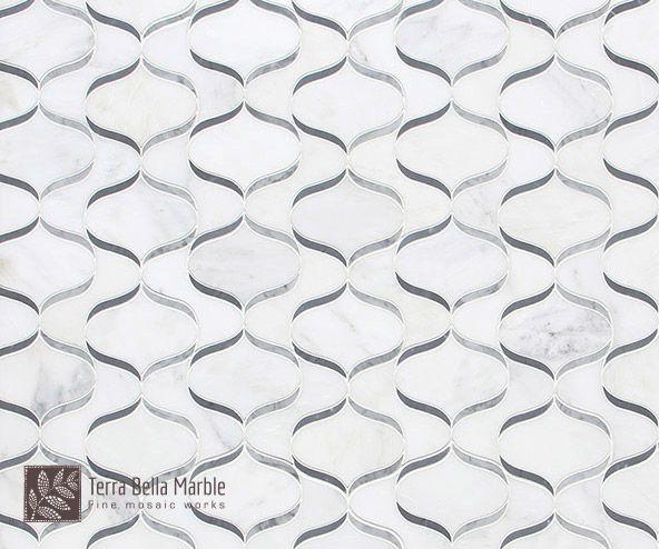 Waterfall Mosaic By Terra Bella Marble Organic Mosaics