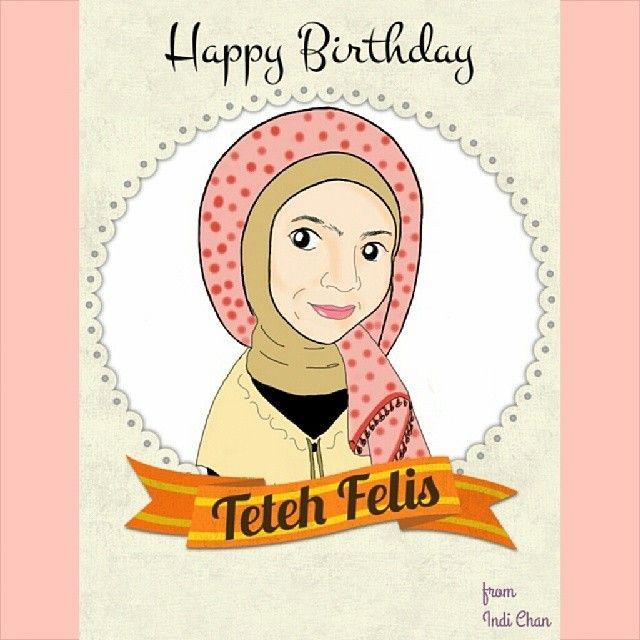 For the beautiful sister. ^^ #birthday #birthdaygift #drawing #doodling #sketchbookmobile #jakarta #bandung #instapic #ig_cartoon