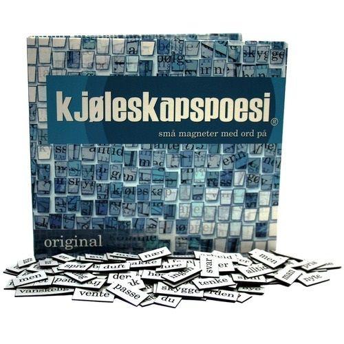 Kjøleskapspoesi - Små magneter med ord på: https://www.spillsjefen.no/product_info.php?products_id=52383