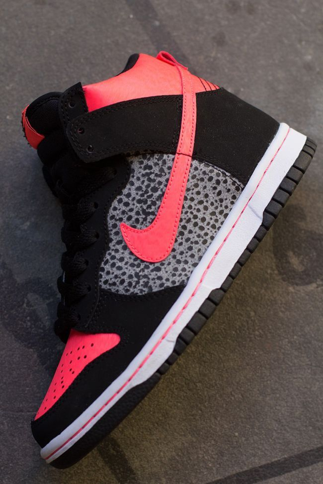Preview: Nike Dunk High GS | Atomic Red Safari