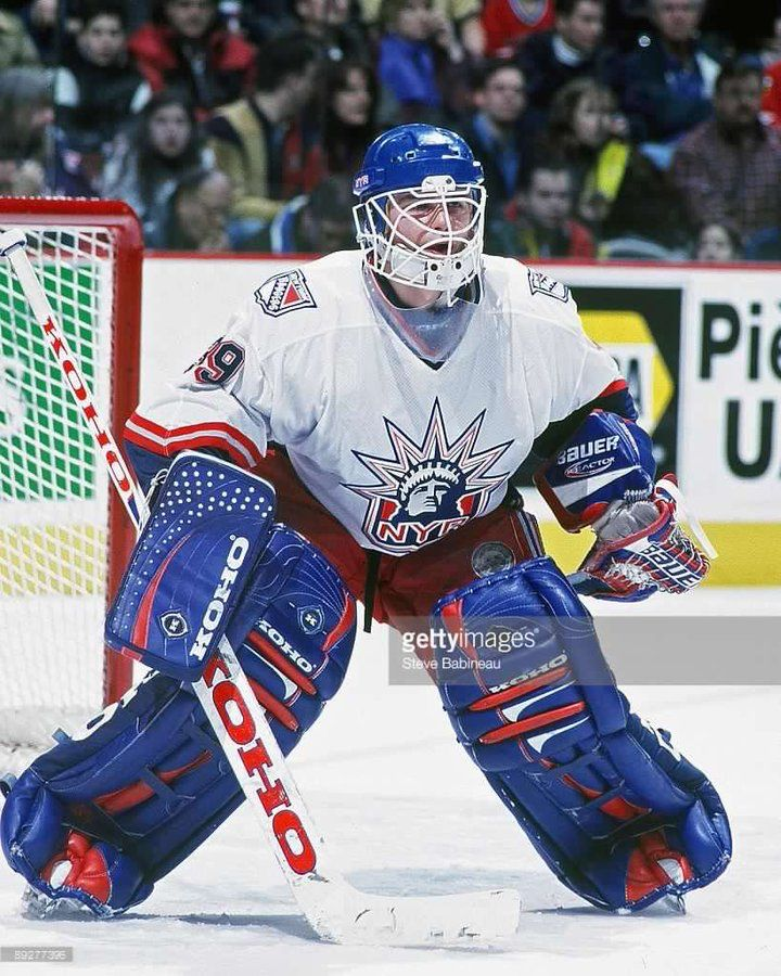 Pin By Joe On Nhl Goalies Hockey Goalie Rangers Hockey New York Rangers