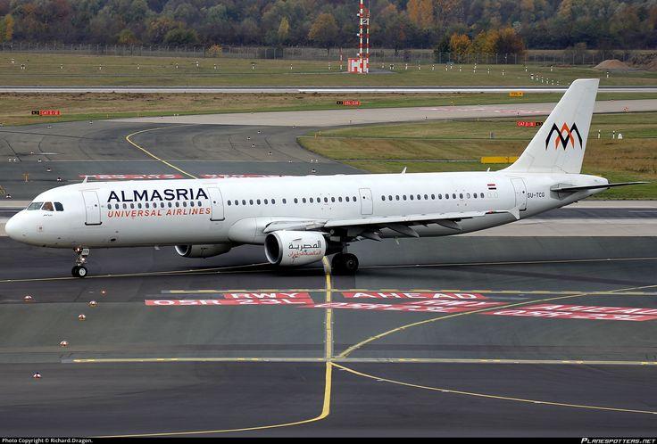SU-TCG AlMasria Universal Airlines Airbus A321-211 photographed at Dusseldorf - Rhein-Ruhr International (DUS / EDDL) by Richard.Dragon.
