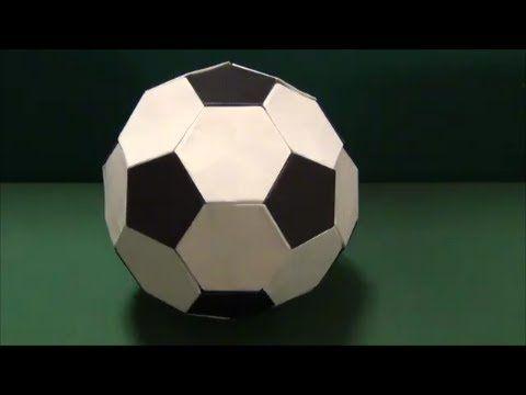 サッカーボールを折り紙で作りました。The soccer ball was made from origami. white:20 black:12 Designed by Mark Leonard ▼ユニット 折り紙 Unit Origami https://www.youtube.com/playlist?l...